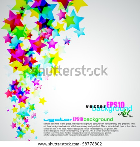 Abstract Rainbow Stars Flyer with delicate Gradient Background #58776802