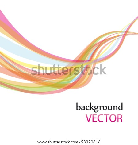 abstract rainbow wave line with