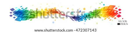 abstract rainbow wave on white