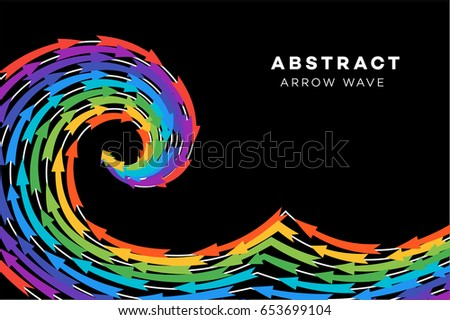 abstract rainbow wave with