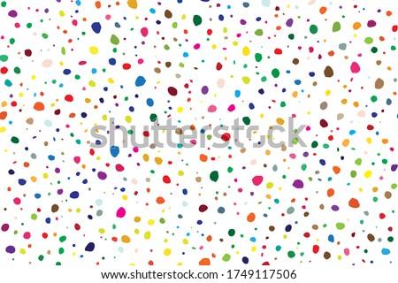 abstract random art rainbow