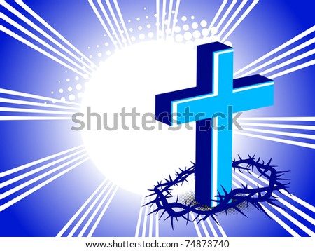 abstract rays, dotted background with cross, thron crown