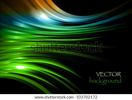 abstract rays on the black background