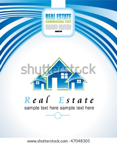 Abstract Real Estate Colorful Business Card