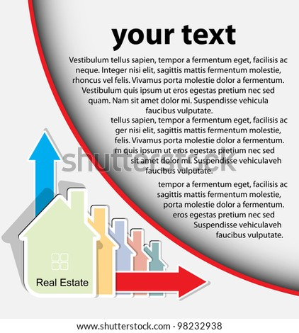 Abstract real estate vector background