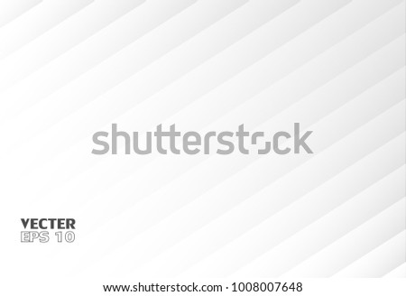 Abstract rectangle white Background, light and shadow ,Vector