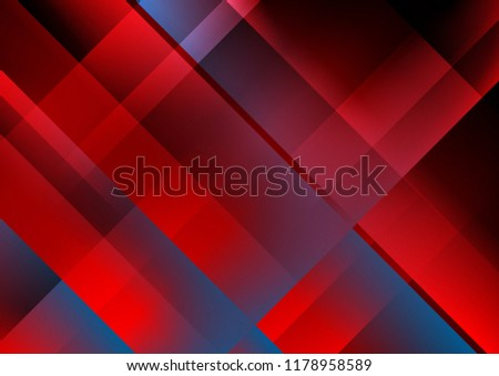 Abstract red and blue tech minimal geometry background. Vector design