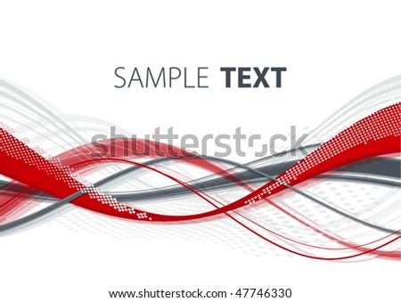 Abstract red and gray template. Vector - stock vector