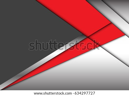 abstract red arrow on gray