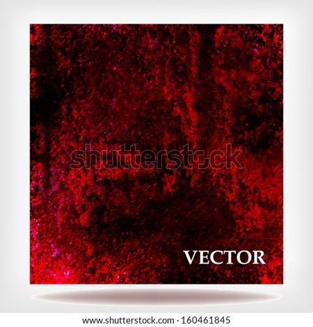 abstract red background messy cloudy brush scratch marks in paint on grunge linen canvas material texture old rough vintage grunge background texture worn image, red black vector background