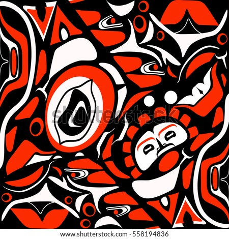 abstract red background native