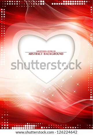 Abstract red background to the Valentine's day. Vector