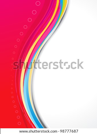 abstract red based brochure template vector illustration