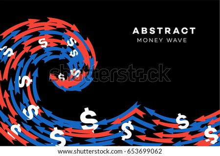abstract red blue wave with