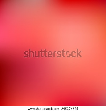 Abstract red blur color gradient background for web, presentations and prints. Vector illustration.