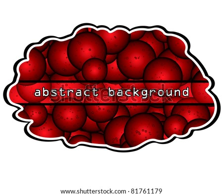 Abstract red bubbles splash.Vector