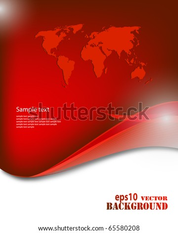 Abstract red business background. Vector eps10 illustration