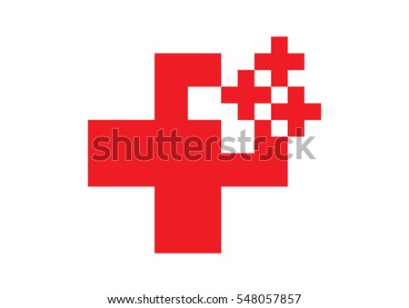 Abstract red cross logo
