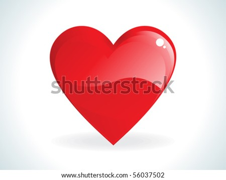 abstract red gossy heart vector