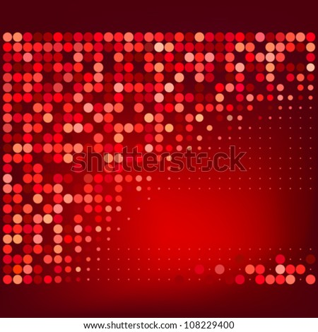 Abstract Red Halftone Dots Vector Background