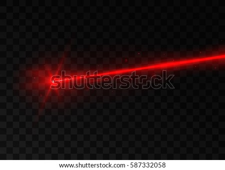abstract red laser beam