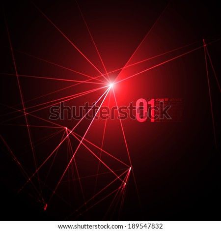 abstract red laser light