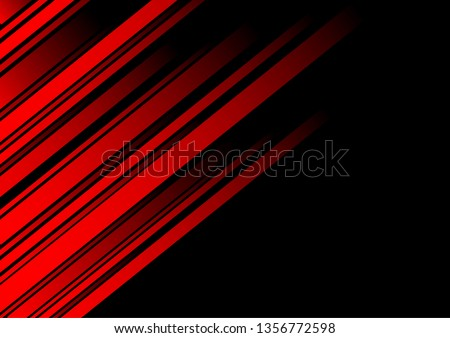 abstract red line and black