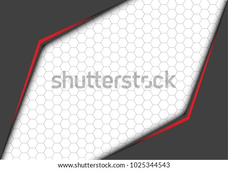 abstract red line metallic gray