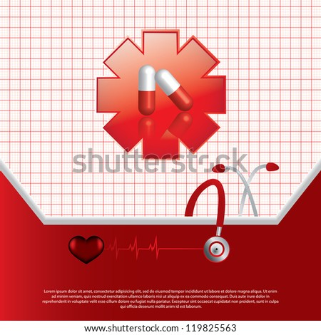 Abstract red medical background