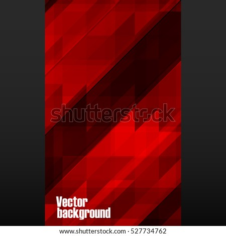 Abstract red mosaic banner on black background. Vector illustration. Eps 10