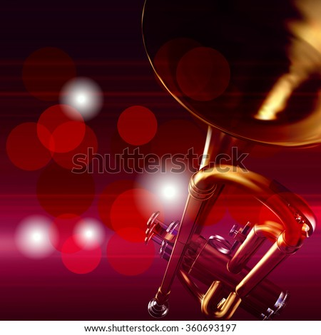 abstract red music background