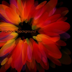 Abstract red petals. Use for stylish design. Big copy space. Not cropped right side.