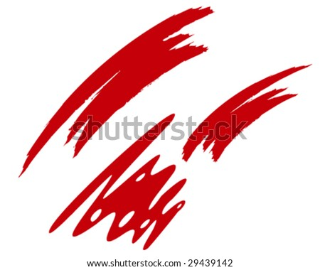 abstract red strokes vector