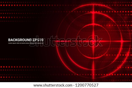 abstract red target  shooting