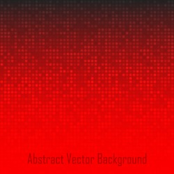 Abstract Red Technology Background, vector illustration