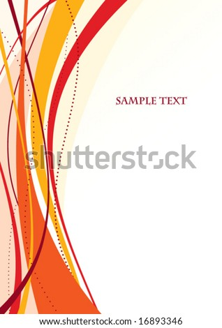 Abstract red template