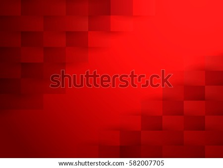 Stock Photo Abstract red vector background with rectangles, squares, half tones, light and shade.