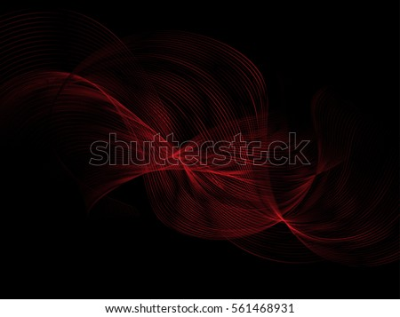 abstract red waves on the dark