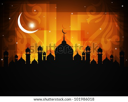 abstract religious eid background Vector illustration