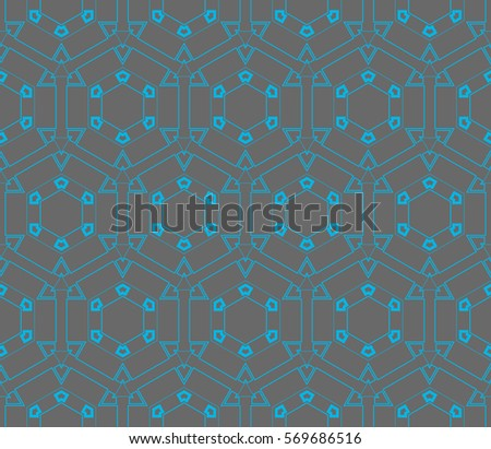 Abstract repeat backdrop. Design for decor, prints, textile, furniture, cloth, digital. Vector monochrome seamless pattern #569686516