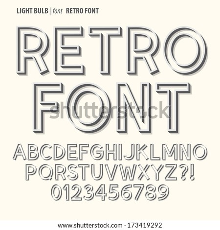 Abstract Retro Alphabet and Digit Vector #173419292