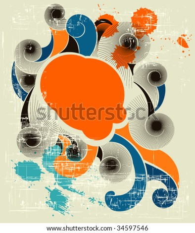 Abstract retro background