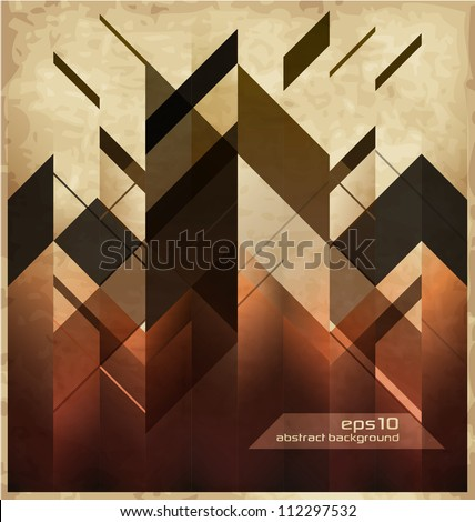 Shutterstock Abstract Retro Background With Geometric Shapes