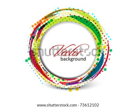 Abstract retro banner technology circles vector background.