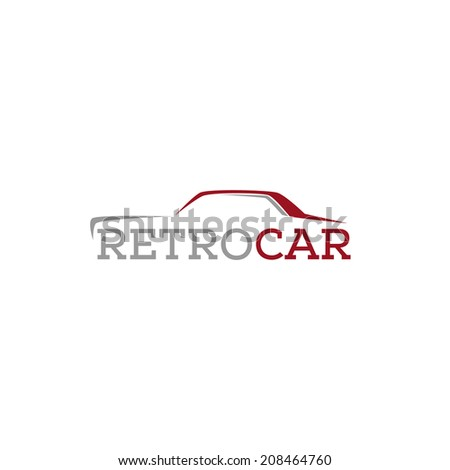 abstract retro car design concept salon vector logo design template