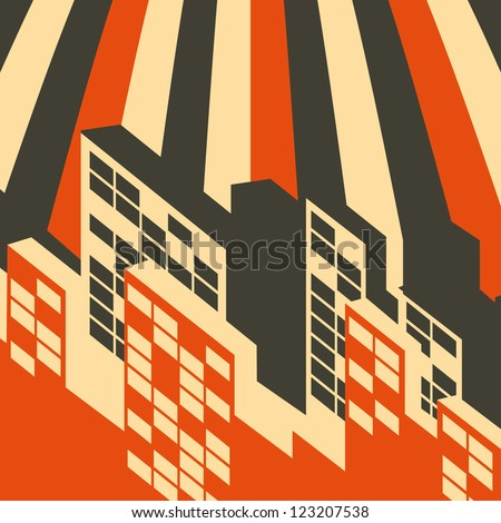 abstract retro city background