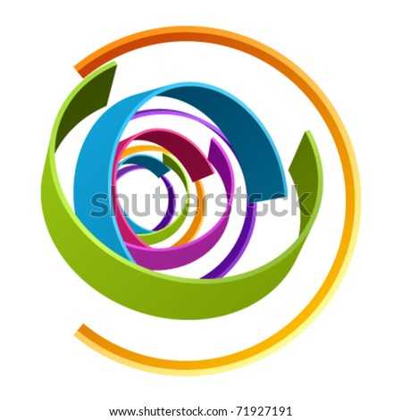 Abstract retro 3d circles as design element