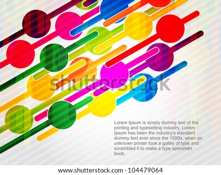 abstract retro designed background. Vector illustration - stock vector