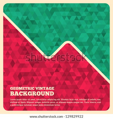 Abstract Retro Geometric Background. Vector