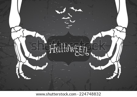 abstract retro grunge halloween